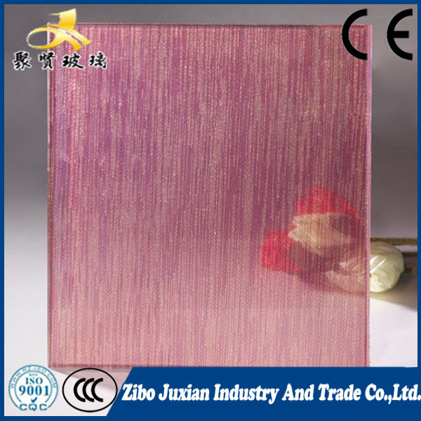 pink 4mm laminated glass sheet for building