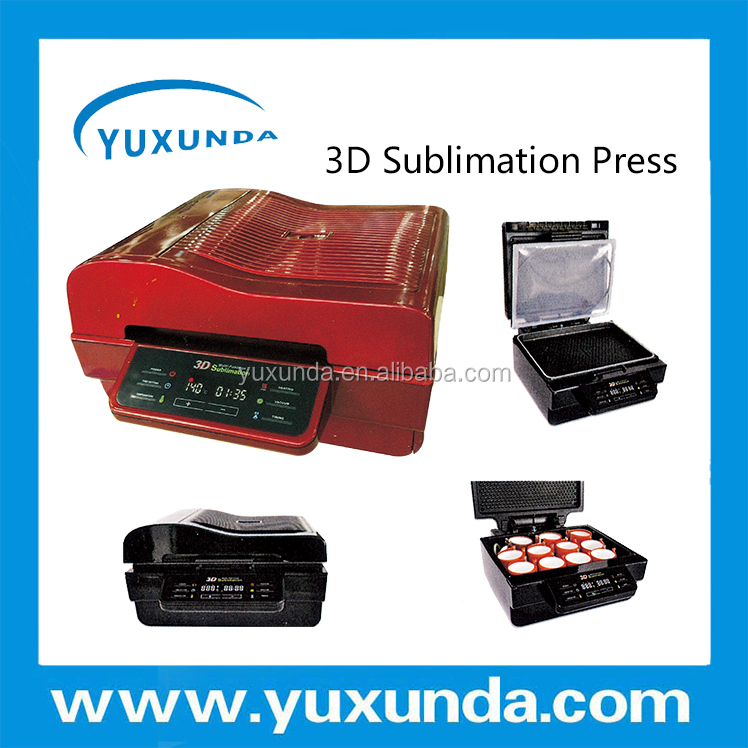 YUXUNDA Mini 3D heat transfer printing machine for cell phone case/ipad/mugs printing with colorful photos