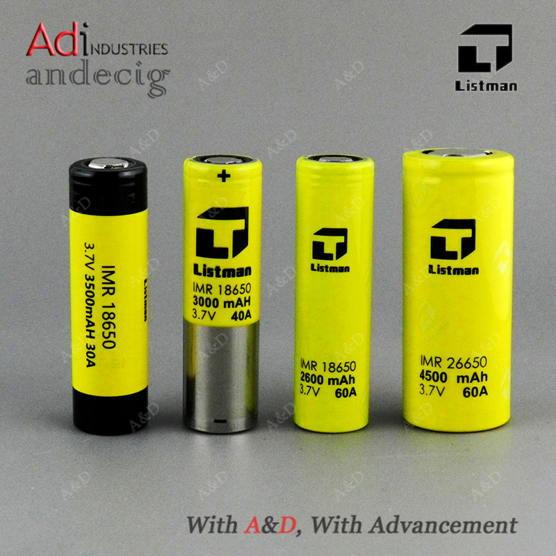 Professional Powerful Vape Battery !! Authentic Listman 60A 26650 Battery FOR IPV 8