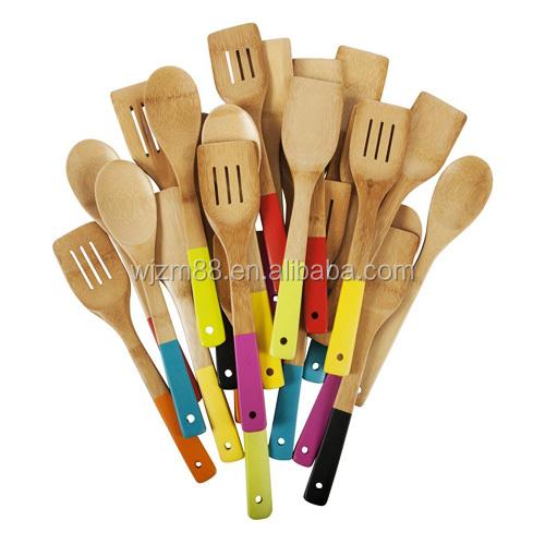 Kitchen Utensils Product ~ Bamboo kitchen utensils set cooking accessories
