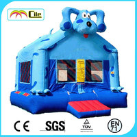 CILE 2015 High Quality Cartoon Dog Inflatable Mini Bouncing House Playground for Backyard