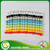 Best selling custom assorted colors silicone bracelets