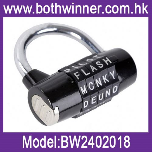 Superior quality letters combination padlock ,h0t5k locker combination lock