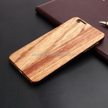 high quality wooden cell phone case for iPhone 6 ,whole wooden phone case dust-proof hard solid protective case
