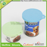 Food grad multi-function silicone jar lids