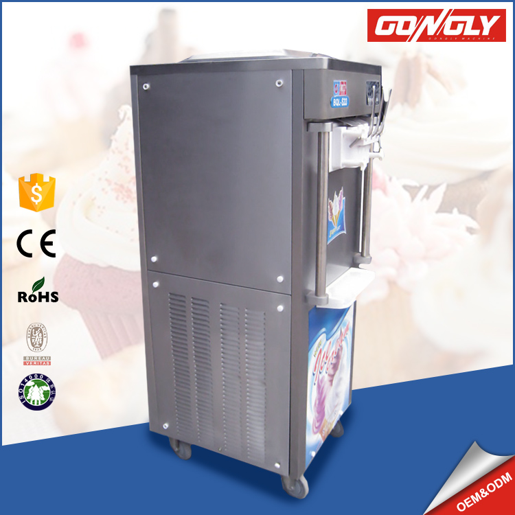 Professional factory service stainless steel rainbow soft serve ice cream machine