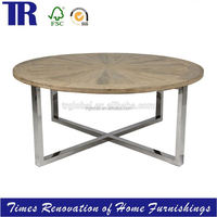 Oak Ray Jointing Dining Table,Stainless Steel Dining Table,Wood Dining Table