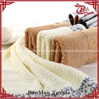 China supplier soft and jacquard dobby terry towel set with border
