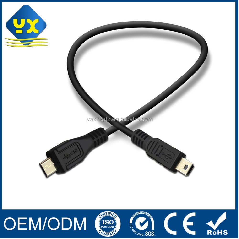 Micro USB to Mini USB 2.0 Adapter Cable Male to Male 6inch Micro to Mini USB Cable