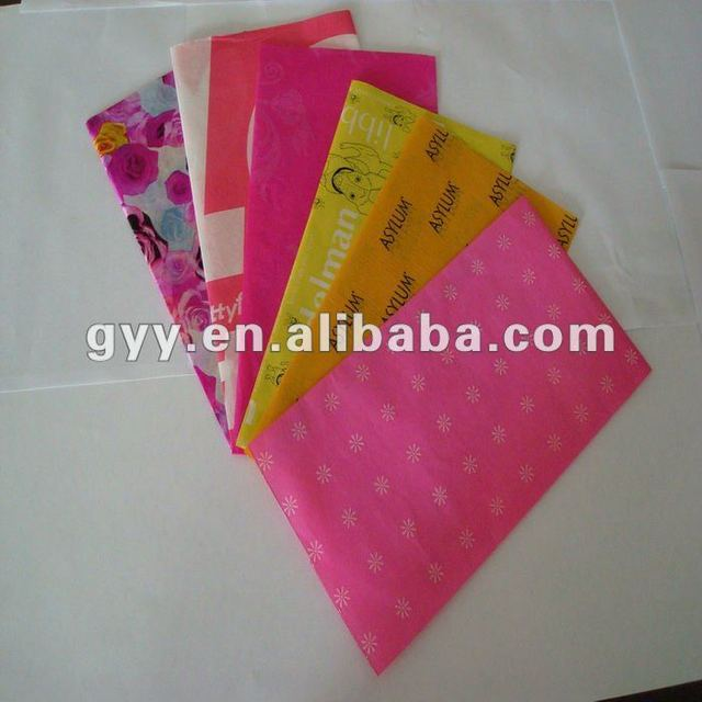 Customize tissue paper/Silk paper for wrapping shoes /clothes/bags etc.