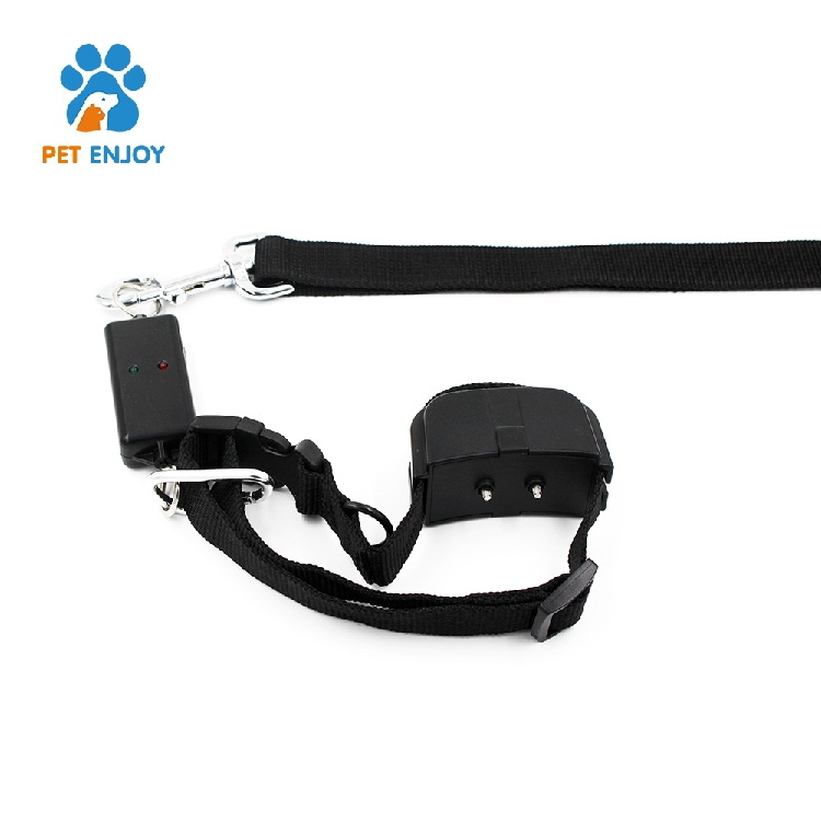 Two intensity models best price CE / RoHS / FCC black Leash training electronic dog collar and leash