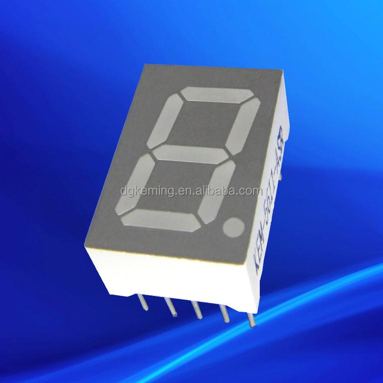 Single ultra white led display 0.56 inch 1 digit led 7 segment