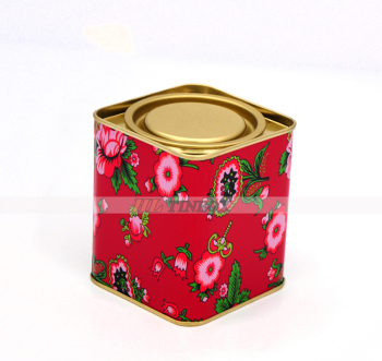 Small Square Storge Tea Tin Can