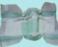 own brand top grade free sample magic blue film baby diapers factory in China