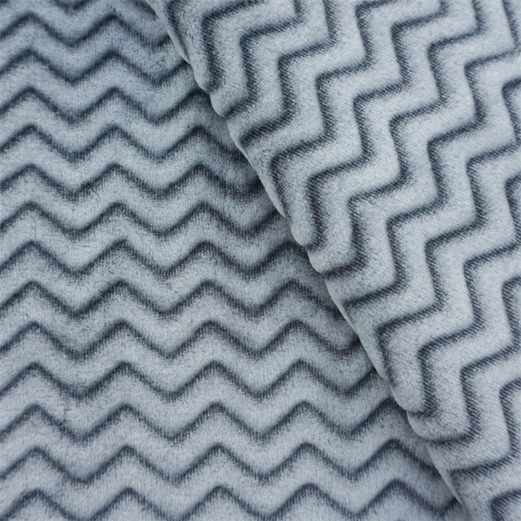 Best price cheap striped wave pattern 100 cotton flannel fleece fabric beach print for sofa