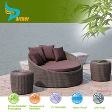 Leisure Legless Chair Sofa with Ottoman / Outdoor Rattan Round Cheap Plastic Patio Chairs