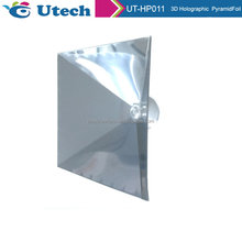 3D holographic projector for Smartphone holographic display 3d pyramid 0.25MM foil