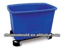 Plastic rotomolding water storage tank with wheels for sale
