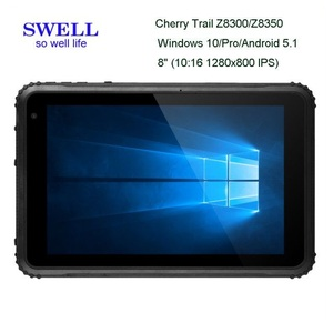 Distributors 8inch Rugged tablet PC With Barcode Scanner Fingerprint For Window 10 and Andriod Dual System