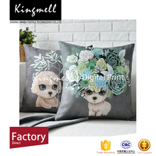 Cute design printed cushion linen fabric sofa/car seat cushion covers