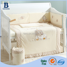 Baho Kids Factory Custmoized OEM Wholesale 5 7 9 pcs Baby Crib Bedding Sets