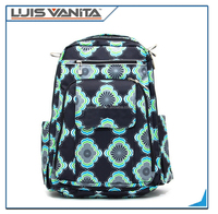 Fashion 420D Flower Printing Water-resistant Baby Diaper Backpack
