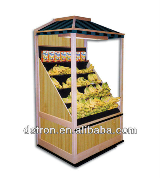 supermarket wood banana rack for sale