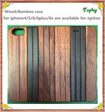 Whole bamboo wood phone case for Apple iPhone 6 flip wallet case