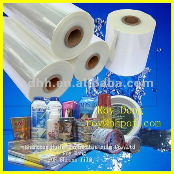 clear transparent polyolefin pof shrink film plastic wrap