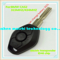 car key for bmw cas2 3button remote key 315mhz/433.92mhz with electric transponder chip 46 for 2004-2006 bmw 3 5series x5 x3 Z4
