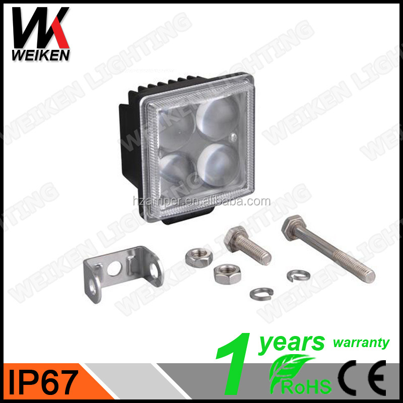 WEIKEN Offroad led car light 12W 4D led driving work light Spotlight for ATV/Truck/Tractor motorcycle 4x4 off road