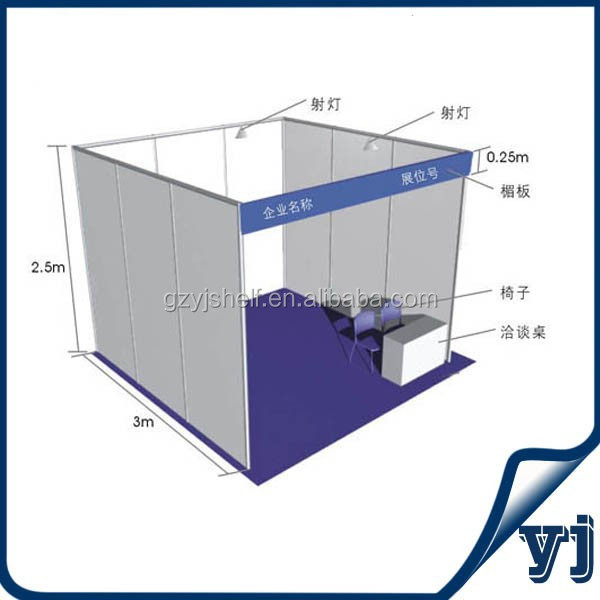 Portable Aluminium Stall Shell Scheme/Exhibition Event Booth Design/Exhibition Booth Material