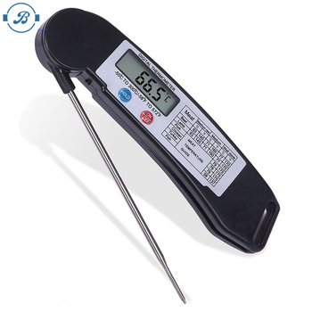 2019 digital lcd display probe food thermometer timer cooking kitchen bbq meat thermometer