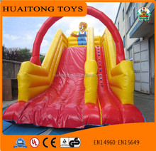 0.55~0.99mm PVC inflatable bouncer for sale/ outdoor giant inflatable slide with good price for adult