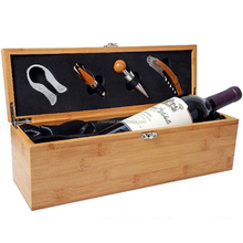 Durable 1 bottle wine bamboo wood box