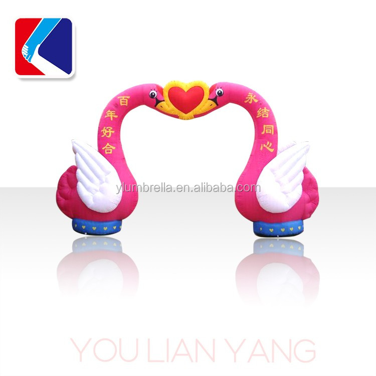 Inflatable swan Arch ,outdoor promotion arches,cheap Inflatable arch for wedding with high quality