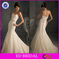 Low Price Organza Off White Lace Slim Fit New Model 2013 Wedding Dress