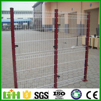 Y post pvc coated security welded airport and prison barbed wire fence