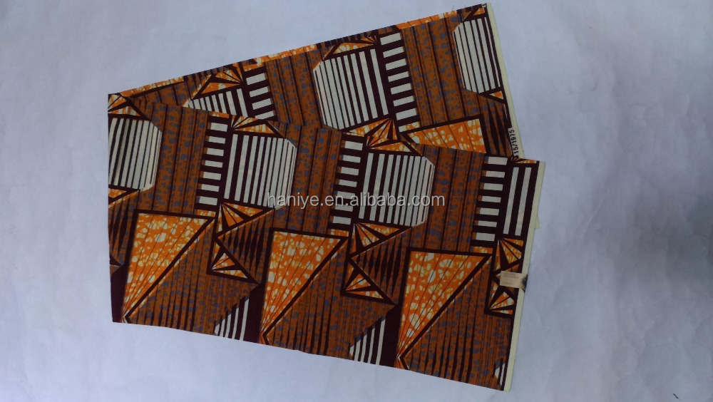 pure cotton veritable african real/super batik wax printed fabric WX6-2