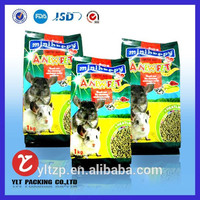 Custom china any capacity made plastic pet food bag with ziplock or handle 1-20kg