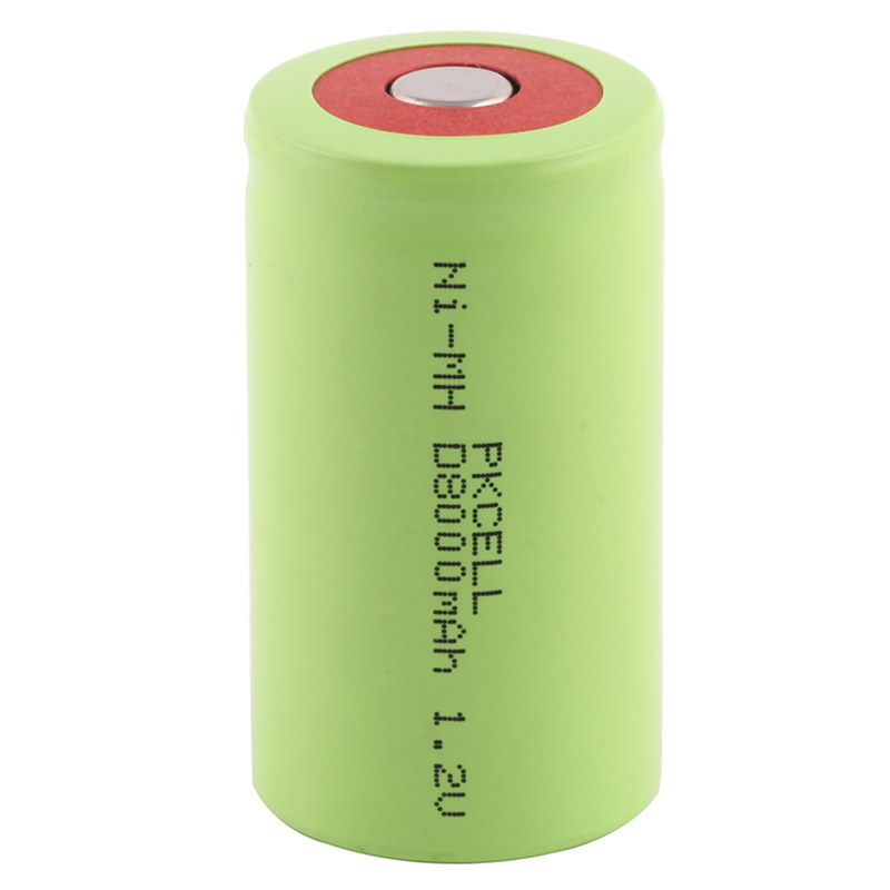 NI-MH 1.2V D size 8000mAh Rechargeable Battery Flat top