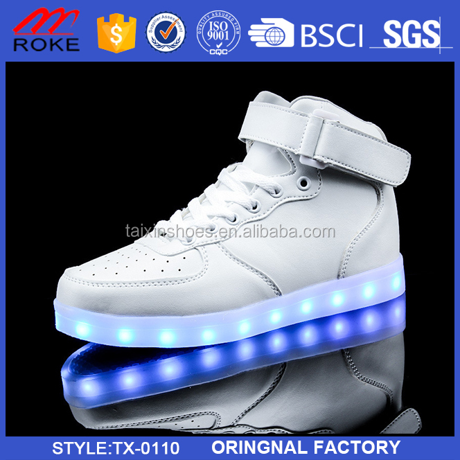 Popular High Top Led Dance Shoes Men And Women Light Up Shoes