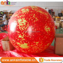 Hot sale air balloon type inflatable balloon planets printing