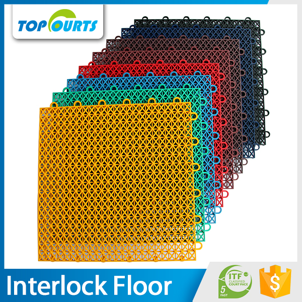 Topcourts hot sale polypropylene interlocking floor for sport court surface