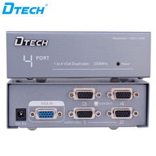 4-port vga splitter 1 input 4 output 250MHZ