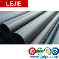 black large diameter corrugated drainage pipe