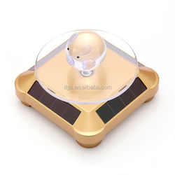 Mobile Phone rotating solar display stand for jewelry and cellphones