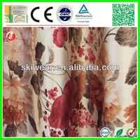 Hot sale jacquard cheap curtain fabrics floral designs factory