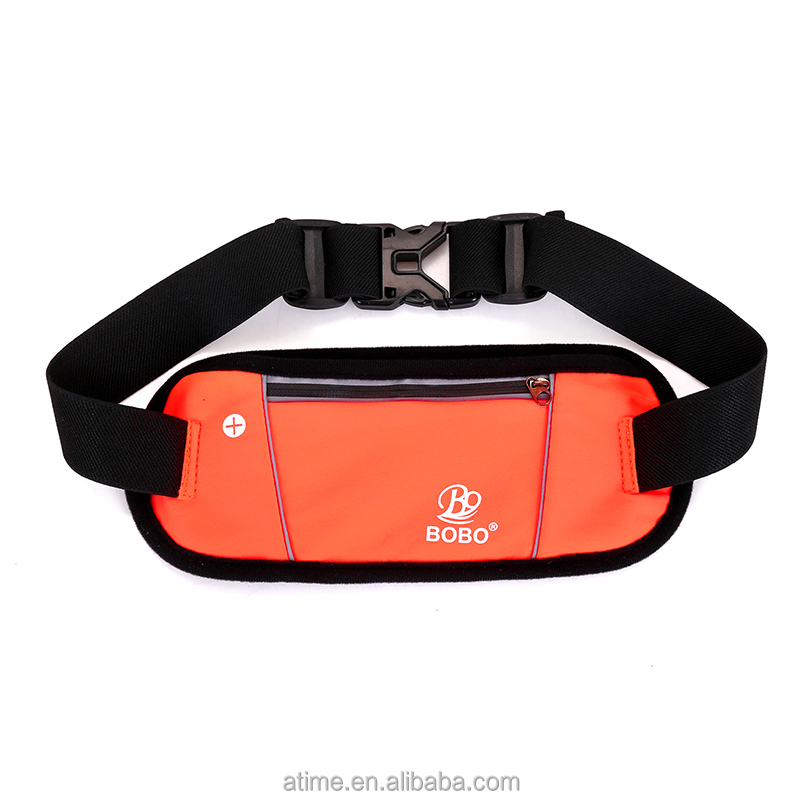 Safe reflective water proof girls and kids neoprene thin waist bag