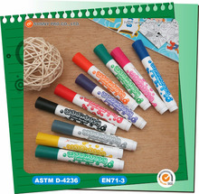 Custom Bulk Colored Washable ink Fabric Marker Water Color Pen